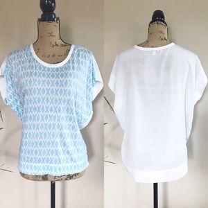 •GAP• soft knit chiffon back top